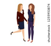 couple businesswomen avatars... | Shutterstock .eps vector #1255953874