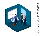 group of business people in the ... | Shutterstock .eps vector #1255954357