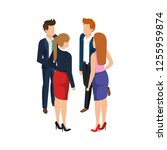 group of business people... | Shutterstock .eps vector #1255959874