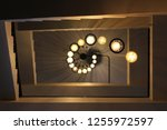 lamp ceiling bottom view | Shutterstock . vector #1255972597