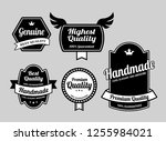 genuine label badges. good use... | Shutterstock .eps vector #1255984021