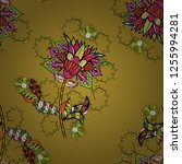 beautiful fabric pattern.... | Shutterstock .eps vector #1255994281