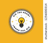 did you know with bulb icon... | Shutterstock .eps vector #1256000314