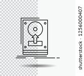 install  drive  hdd  save ... | Shutterstock .eps vector #1256000407