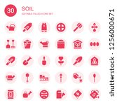 soil icon set. collection of 30 ...   Shutterstock .eps vector #1256000671