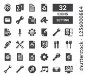 setting icon set. collection of ... | Shutterstock .eps vector #1256000884