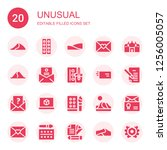 unusual icon set. collection of ... | Shutterstock .eps vector #1256005057