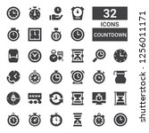 countdown icon set. collection... | Shutterstock .eps vector #1256011171