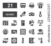 degree icon set. collection of... | Shutterstock .eps vector #1256011237