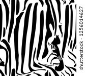 zebra stripes seamless pattern. ... | Shutterstock .eps vector #1256014627