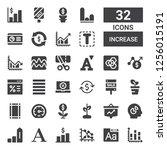 increase icon set. collection... | Shutterstock .eps vector #1256015191