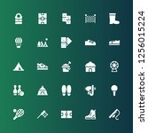recreation icon set. collection ... | Shutterstock .eps vector #1256015224