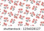 flowers pattern for seamless... | Shutterstock .eps vector #1256028127
