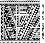polynesian style ornamental... | Shutterstock .eps vector #1256028601