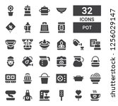 Pot Icon Set. Collection Of 32...