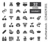 gourmet icon set. collection of ... | Shutterstock .eps vector #1256029201