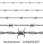 barbed wire. repetitive ...   Shutterstock .eps vector #1256032327