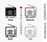ad  broadcast  marketing ... | Shutterstock .eps vector #1256041951