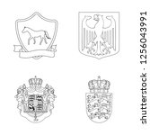 vector illustration of heraldic ... | Shutterstock .eps vector #1256043991