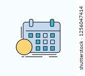 schedule  classes  timetable ... | Shutterstock .eps vector #1256047414