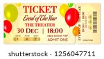 admission ticket template.... | Shutterstock .eps vector #1256047711