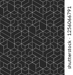 abstract geometric pattern with ... | Shutterstock .eps vector #1256066791