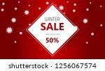 winter sale vector poster or... | Shutterstock .eps vector #1256067574