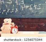 classroom with chalkboard on...   Shutterstock . vector #1256075344