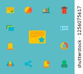 set of project icons flat style ... | Shutterstock .eps vector #1256075617