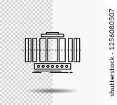turbine  vertical  axis  wind ... | Shutterstock .eps vector #1256080507
