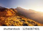 beautiful landscape of himalaya ... | Shutterstock . vector #1256087401