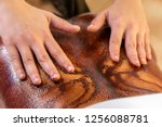 close up of hands doing... | Shutterstock . vector #1256088781