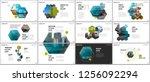minimal presentations design ... | Shutterstock .eps vector #1256092294