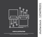 digital  fiber  electronic ... | Shutterstock .eps vector #1256098201