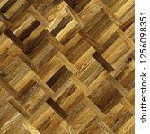 fragment of parquet floor.  | Shutterstock . vector #1256098351