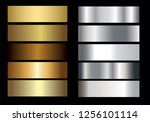 gold silver. vector golden... | Shutterstock .eps vector #1256101114