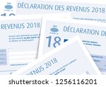 income tax return d claration... | Shutterstock .eps vector #1256116201