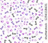 light pink  blue vector...   Shutterstock .eps vector #1256118631