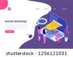 online cinema tickets booking... | Shutterstock .eps vector #1256121031