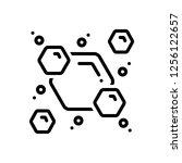 vector icon for molecule | Shutterstock .eps vector #1256122657