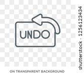 undo icon. undo design concept... | Shutterstock .eps vector #1256123434