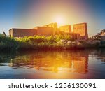 lighting with the temple of... | Shutterstock . vector #1256130091
