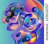 vector illustration abstract... | Shutterstock .eps vector #1256132557