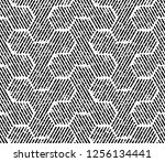 abstract geometric pattern with ... | Shutterstock . vector #1256134441