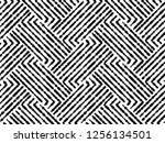 abstract geometric pattern with ... | Shutterstock . vector #1256134501