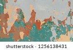 grunge vintage wall background | Shutterstock . vector #1256138431