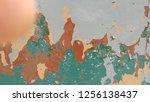 grunge vintage wall background | Shutterstock . vector #1256138437
