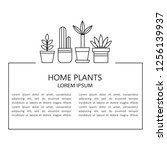 home plants and place for your... | Shutterstock .eps vector #1256139937