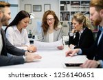 group of business people... | Shutterstock . vector #1256140651