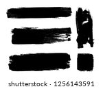 grunge paint stripe . vector... | Shutterstock .eps vector #1256143591